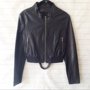 ⭐️BCBGMAXAZRIA LEATHER MOTO JACKET⭐️